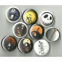 "The Nightmare Before Christmas Lot of 8 1"" Pinback Buttons/Pins"