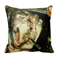 Cowboy Smoking Cigarette Old Wild West Pillow