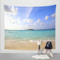 Beach Wall Tapestry by 2sweet4words Designs