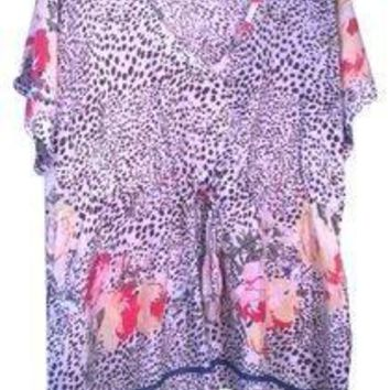 Johnny Was Gorgeous Silk Tunic Size X-Large