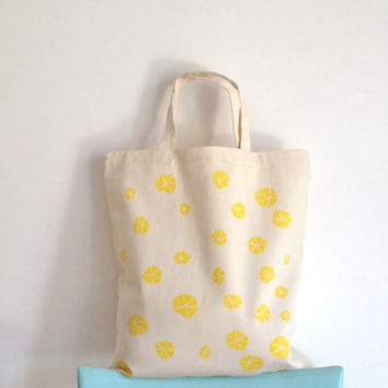 Organic Cotton Tote Hand Painted Tote Bag Eco Design Shopping Bag