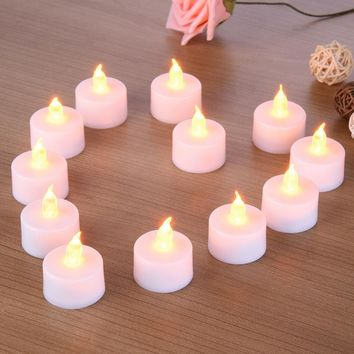 6/12Pcs Light Flameless LED Tealight Tea Candles Wedding Light
