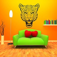 Wall Decal Vinyl Sticker Decals Art Home Decor Murals Leopard Print Wild Cat Wildcat Animals Panther Tiger Bathroom Bedroom Dorm Decals AN13