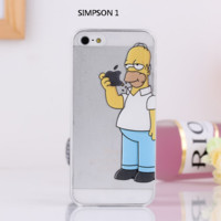 Simpsons Cartoon iPhone Case for iPhone 5/5s/6/6s