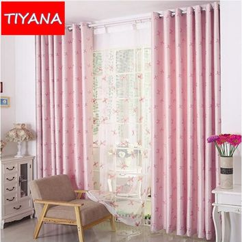 Pink Blackout Curtains For Lovely Girls Cute Bow Pattern Cortinas For Kids Living Room Bedroom Coffee Blackout Cuetains AG208&2