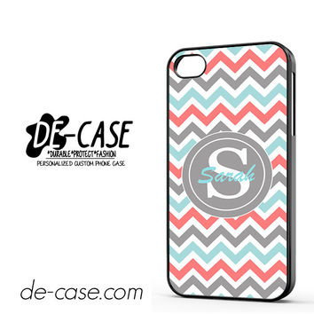 Chevron Tiffany Blue Coral And Gray DEAL-2546 Apple Phonecase Cover For Iphone 4 / Iphone 4S