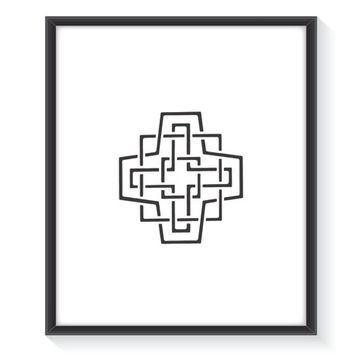 Black Minimalist Print, Grey Minimal Art, Wall Decor, Geometric Print, Geometric Art, Digital Print, Modern Print, Printable Wall Art
