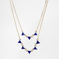 ASOS Mini Triangles Multirow Necklace