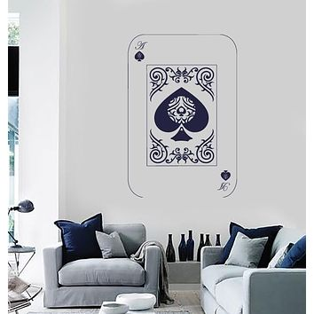 Vinyl Decal Wall Sticker Playing Cards Deck Ace of Spades Poker Unique Gift (n687)