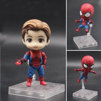 Anime Marvel Avengers Nendoroid 781 Cute Spiderman Kawaii Spider Man 10cm Action Figure Toys