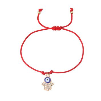 EVIL EYE 1pc new Hand woven red string bracelet trendy Rope chain palm/Rabbit,/butterfly/bead charm eye red bracelet for woman