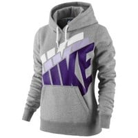 Nike Club Stacked Pullover Hoodie - Women's at Eastbay