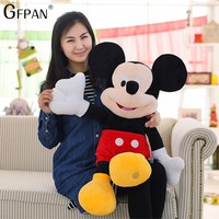 GFPAN  New Arrival 50CM High Quality Mickey & Minnie Mouse Plush Toys  Stuffed Cute Cartoon Animal Dolls Christmas Gift For Kids