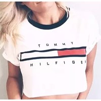 simpleclothesv :  Tommy Hilfiger Tommy men and women classic tee shirt T-shirt