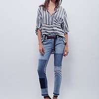 Free People Womens Jax Patched Skinny