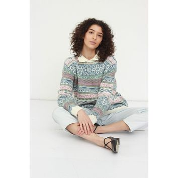 80s Patterned Pastel Color Sweater