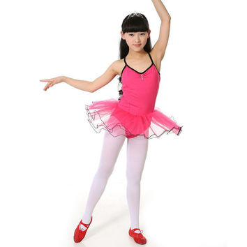 Fashion Girls Party Leotard Ballet Costume Tutu Skirt Dance Skate Dress P1 SM6