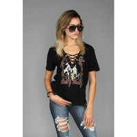 Metal Chick Laced Up Graphic Tee