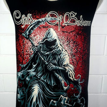CHILDREN OF BODOM Rock Band Music Metal T Shirt Tank Top Singlet Vest Sleevless One Size Fits All