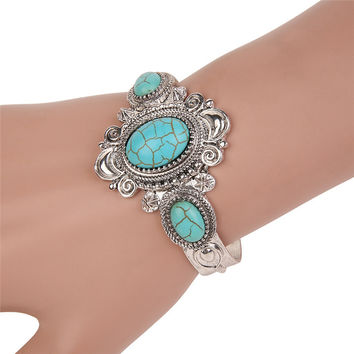 Bohemian Native American Navajo Gypsy Boho Cuff Bangle Ethnic Bracelet