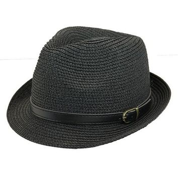Onyx Buckle Fedora Hat