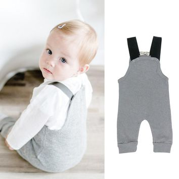 Newborn Baby girl boy clothes tiny cottons 2017 baby Romper infant Toddler Rompers jumpsuit clothes Gray Sleeveless baby Onesuit