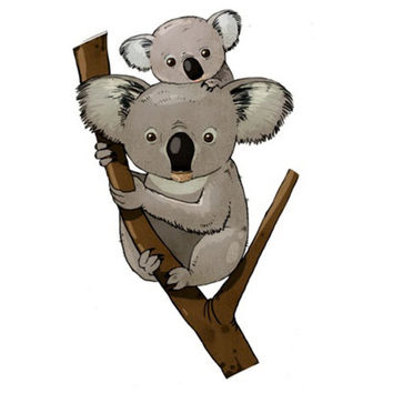 Cross stitch pattern Koalas family Koala Animal Baby pattern Kids embroidery PDF Instant Download Counted cross stitch Disney needlepoint