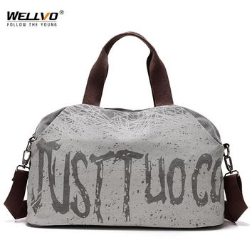 Travel Duffle Women Large Canvas Handbag Letters Printing Tote Shoulder Bags Men Crossbody Luggage Bag Portable Handbags XA31WC