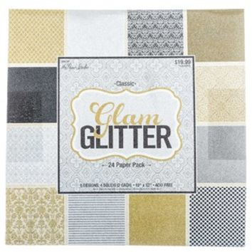 "12"" x 12"" Classic Glam Glitter Paper Pack 