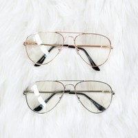 Wired Aviator Glasses - Luca + Grae