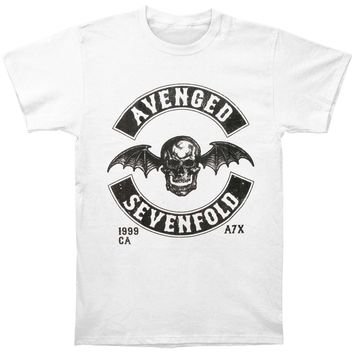 Avenged Sevenfold Men's  Moto Seal T-shirt White
