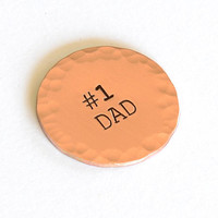 Number One Dad Copper Golf Ball Marker