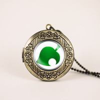 animal crossing new leaf villager nintendo vintage pendant locket necklace - ready for gifting - buy 3 get 4th one free