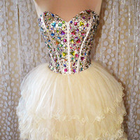 Mini Strapless Short Prom Dress from sweetheart dresses
