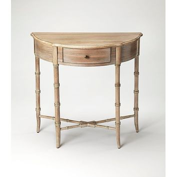 Butler Skilling Driftwood Demilune Console Table
