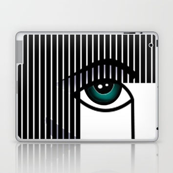 Woman's Profile Laptop & iPad Skin by MIKART