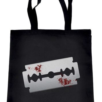 Bloody Razor Blade Tote Bag Book Handbag  Suicide Prevention Awareness