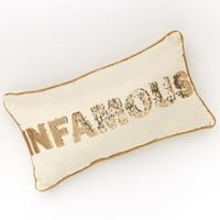 Juicy Couture ''Infamous'' Throw Pillow (Beige/Khaki)