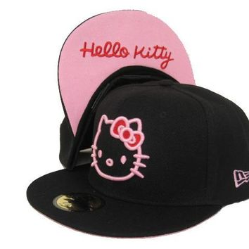 qiyif Hello Kitty New Era 59FIFTY Cap Black-Pink