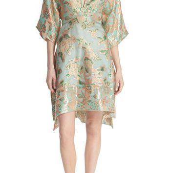 Tory Burch 'McKenna' Metallic Floral Print Dress | Nordstrom