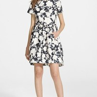 Women's kate spade new york floral jacquard fit & flare dress