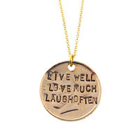 Gold Live Well Necklace