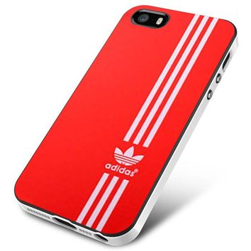 Red white Vertical Adidas iPhone 5 | 5S | 5SE Case Planetscase.com