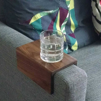Couch Arm Table - Walnut