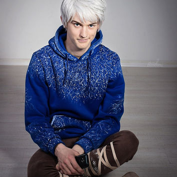 Jack Frost High Quality hoodie Rise of the Guardians cosplay cartoon