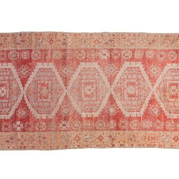 4x8.5 Vintage Distressed Oushak Rug Runner