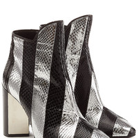 Pierre Hardy - Leather Ankle Boots with Snakeskin