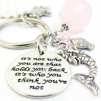 Inspirational Mermaid Keychain