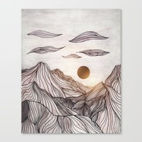 Lines in the mountains Canvas Print by Viviana Gonzalez