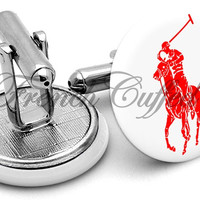 Ralph Lauren Polo Red Cufflinks